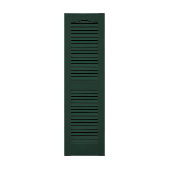 """14-1/2"""" x 43"""" Standard Cathedral Top Open Louver Shutters (Pair)"""
