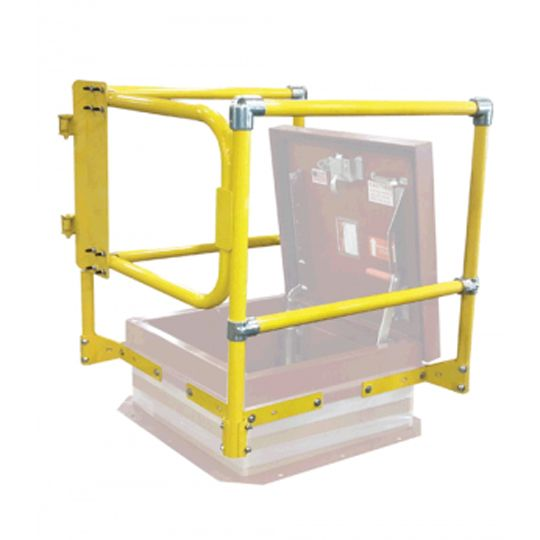 "30"" x 54"" Roof Hatch Safety Railing with Side Gate"