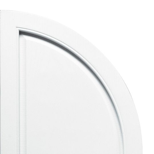 Quarter Round Arch Solid Shutter Top (Pair)