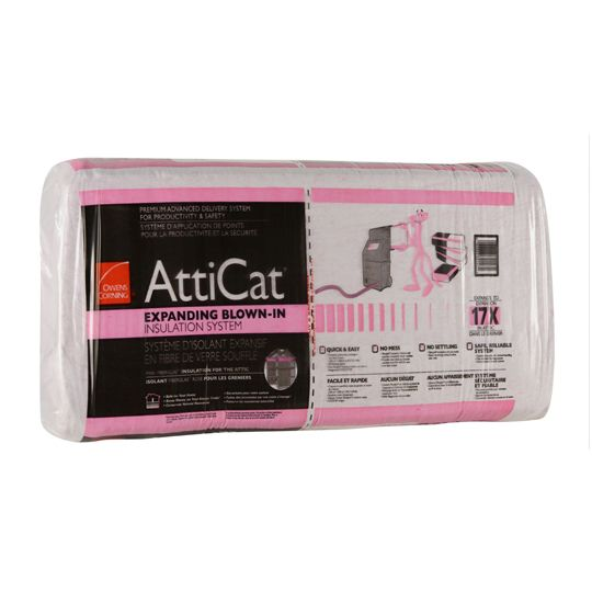 AttiCat® Expanding Blow-In Fiberglass Insulation