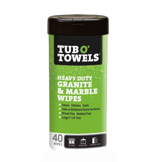 Tub O' Towels® Granite & Marble Polishing Wipes - Canister of 40