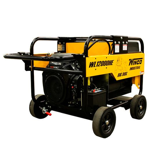 20HP WL12000HE 12,000 Watt Industrial Big Dog Portable Generator with 4-Wheel Dolly Kit