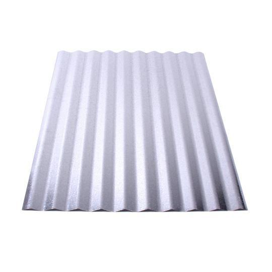 "29 Gauge x 24"" x 10' Galvanized Corrugated Panel"