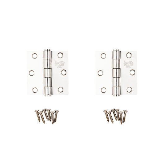 """2-1/2"""" Stainless Steel Door Hinge - Pack of 2"""