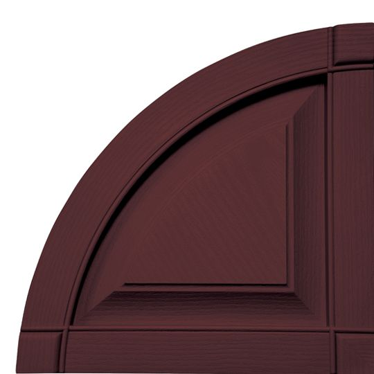 Quarter Round Arch Raised Panel Shutter Top (Pair)