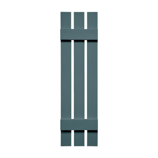 "12"" x 47"" Standard Board-N-Batten 3-Board Spaced Shutters (Pair)"