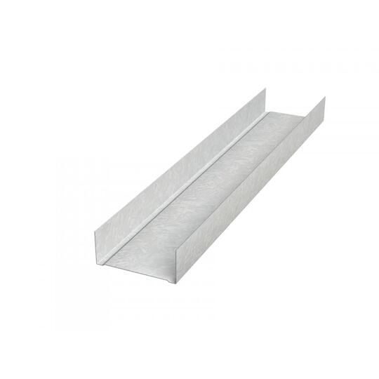 "25 Gauge x 2"" x 10' C Runner Area Separation Wall Profile"