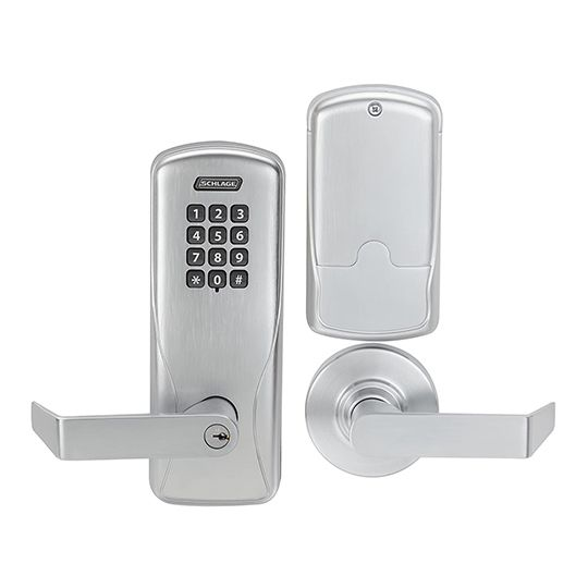 CO-100 Cylindrical Rhodes Office LD Lever with Electronic Pushbutton Keypad Lock