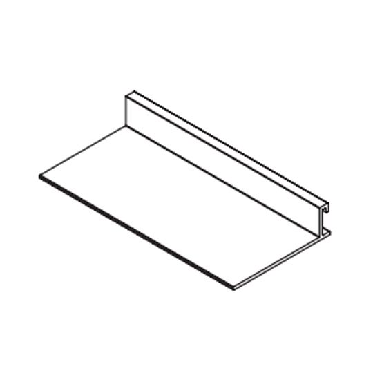 "3"" x 10' Axiom® Aluminum Building Perimeter Closure Clip"