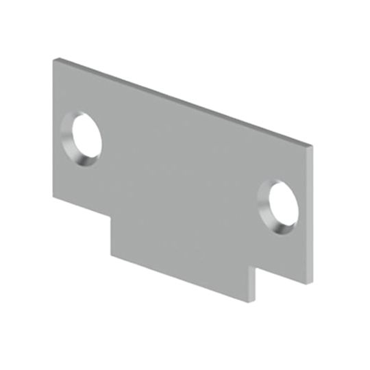 ".083 x 1-1/8"" x 2-3/4"" 336P Cylindrical Lock Strike Filler Plate for Frame"