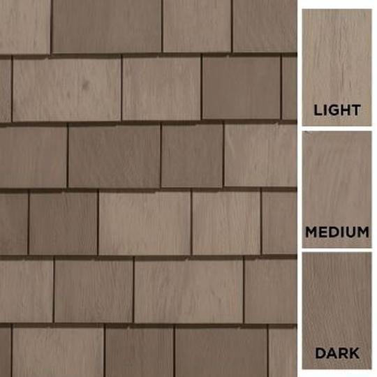 "Cedar Impressions® Individual 5"" Sawmill Polymer Shingle Siding - 33.33 Sq. Ft. Carton"