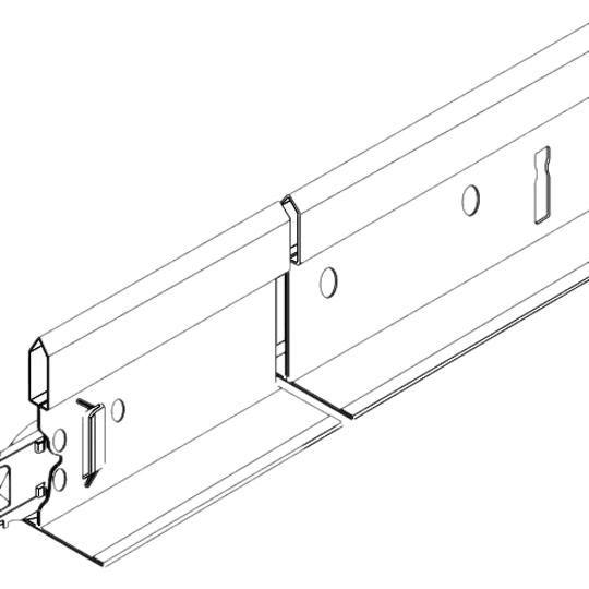 "(7501) 9/16"" x 1-11/16"" x 12' Suprafine® HD Main Beams with 6"" O.C. Rout Spacing - 240 Lin. Ft. per Carton"