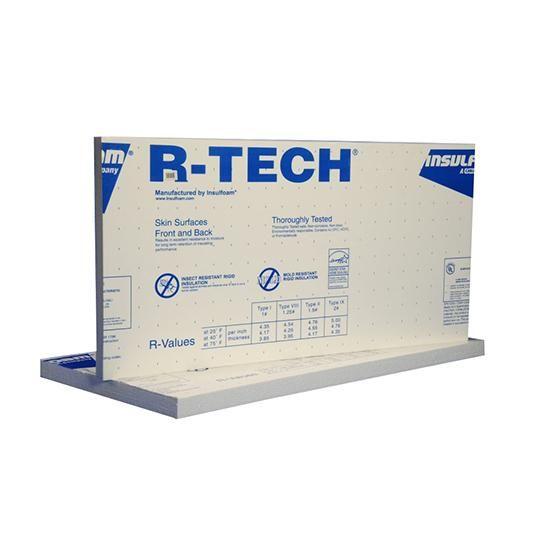 "1/2"" x 4' x 8' R-TECH® VI EPS (40 psi) Roof Insulation"