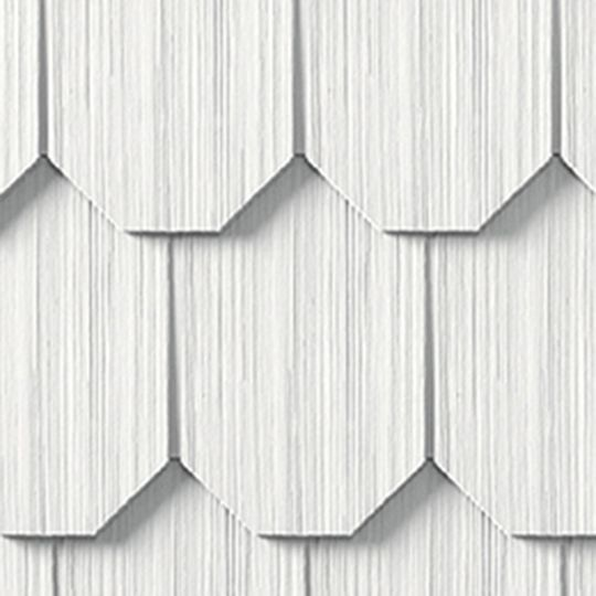 "Cedar Impressions® Single 6-1/3"" Polymer Octagon Edge Shingle Siding"