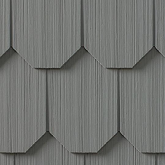 "Cedar Impressions® Single 6-1/3"" Polymer Octagon Edge Shingle Siding"