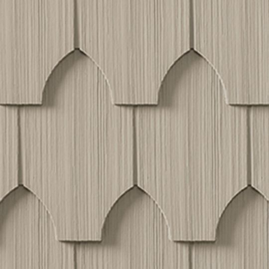 "Cedar Impressions® Single 6-1/3"" Polymer Half-Cove Edge Shingle Siding"