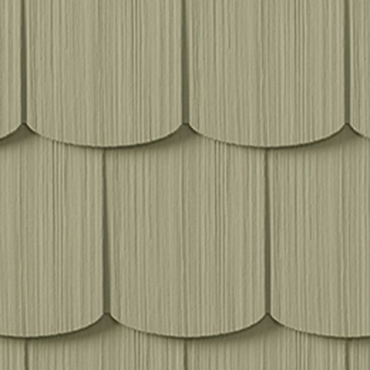 "Cedar Impressions® Single 6-1/3"" Polymer Scallop Edge Shingle Siding"