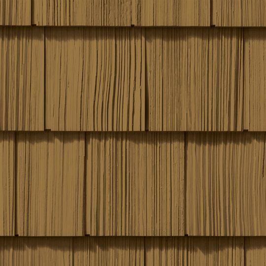 "Cedar Impressions® Double 7"" Straight Edge Rough-Split Polymer Shake Siding"