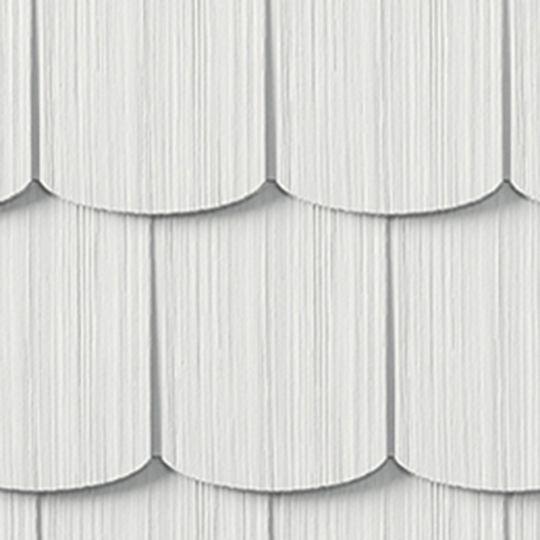 "Cedar Impressions® Single 6-1/3"" Polymer Scallop Edge Shingle Siding"