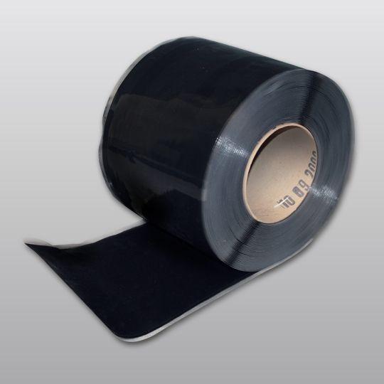 "Carlisle Syntec 70 mil 6"" x 100' Sure-Seal® EPDM Pressure-Sensitive Overlayment Strip Black"