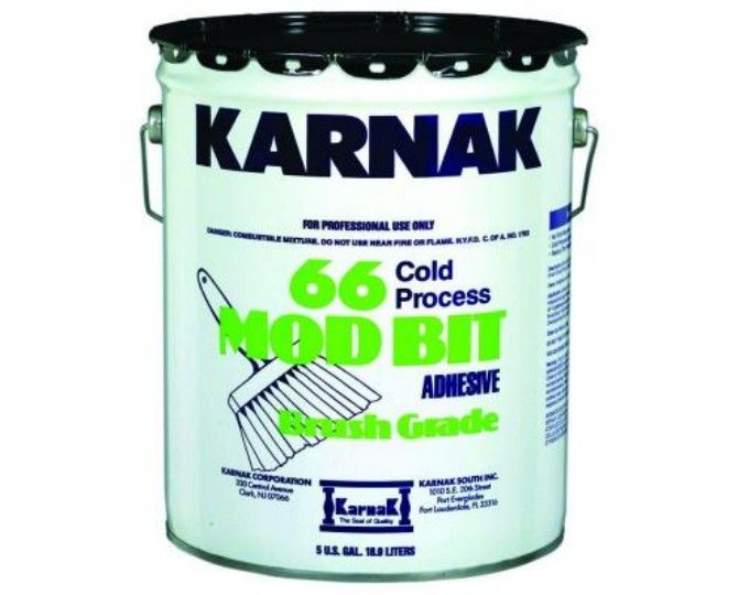 Karnak #66AF Modified Bitumen Adhesive Brush Grade - 5 Gallon Pail