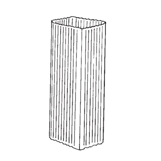 """Berger Building Products 16 Oz. 3"""" x 4"""" x 10' Square Corrugated Copper Downspout"""