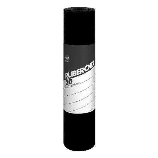 "GAF 0.085"" 39-3/8"" x 49.2' RUBEROID® 20 Smooth Membrane 1.5 SQ. Roll"