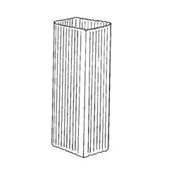 "Berger Building Products .024"" x 4"" x 5"" x 10' Square Corrugated Painted..."