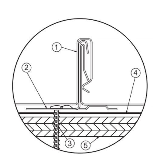Petersen Aluminum UL Snap-Clad Clip