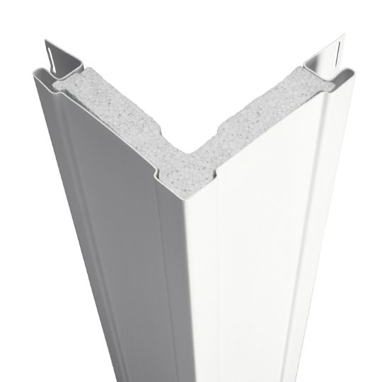 "CertainTeed Vinyl Building Products 3/4"" x 20' Traditional SuperCorner™ with Foam Insert - Matte Finish Sterling Grey"