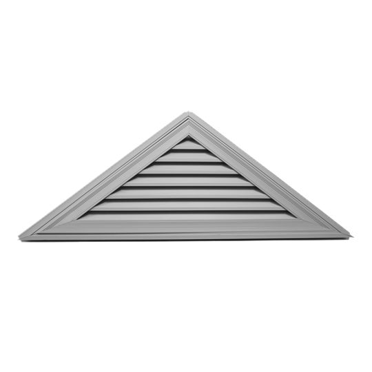 """Mid-America Siding Components 21"""" x 62-1/2"""" Triangle Gable Vent with 8/12 Pitch Paintable (030)"""
