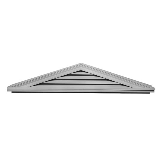 """Mid-America Siding Components 14-1/2"""" x 74"""" Triangle Gable Vent with 4/12 Pitch White (001)"""
