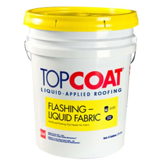 GAF TOPCOAT® Liquid Fabric Flashing - 5 Gallon Pail White