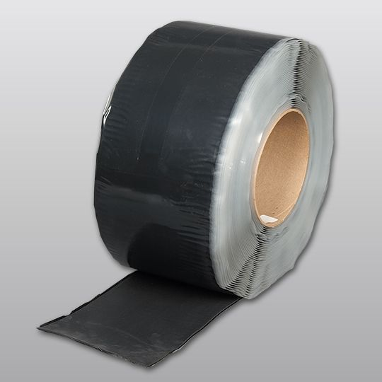 "Carlisle Syntec 88 mil 9"" x 100' Sure-Seal® EPDM Pressure-Sensitive Cured Coverstrip Black"