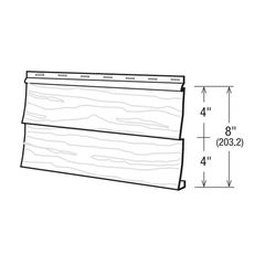 "Gentek Double 4"" Woodgrain Series 2000 Aluminum Siding"