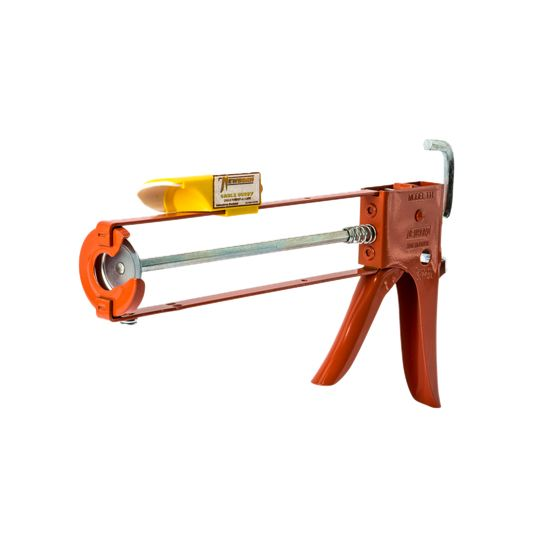 Newborn 10 Oz. Model 111-CB Hex Rod Parallel Frame Caulk Gun with Caulk Buddy Finishing Tool with Caps