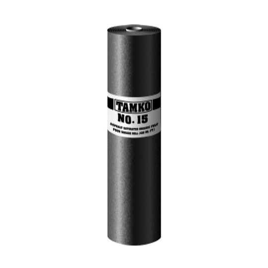 TAMKO No. 15 Asphalt Saturated Organic Felt - 4 SQ. Roll (Green Label)