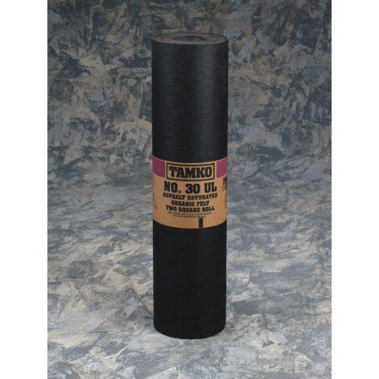 TAMKO No. 30 UL Asphalt Saturated Organic Felt - 2 SQ. Roll