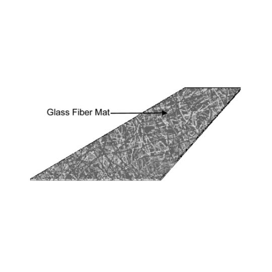 "Firestone Building Products 39-1/4"" x 160'6"" Glass Fiber Mat Reinforced Roofing Ply IV (4) 5 SQ. Roll"