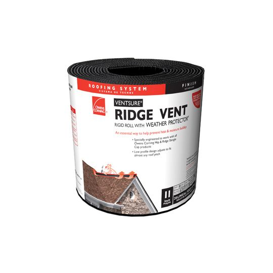 "Owens Corning 11"" x 20' VentSure® Rigid Roll Ridge Vents"