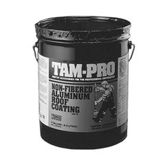 TAMKO TAM-PRO 834 2 Lb. Non-Fibered Aluminum Roof Coating - 5 Gallon Pail