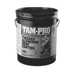 TAMKO TAM-PRO 841 3 Lb. Fibered Aluminum Roof Coating - 5 Gallon Pail