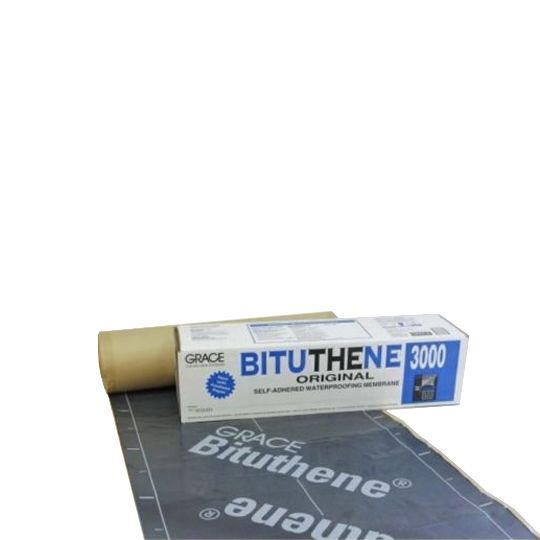 GCP Applied Technologies 3' x 66.7' Bituthene® 3000 Membrane - 2 SQ. Roll Dark Grey-Black