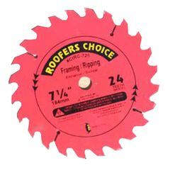"C&R Manufacturing 7-1/4"" 24 Tooth Saw Blades"