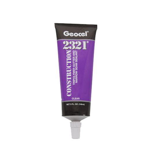 Geocel 2321 Construction Tripolymer Gutter & Narrow Seam Sealant - 5 Fl. Oz. Squeeze Tube Aluminum Grey