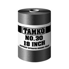 "TAMKO No. 30 18"" Asphalt Saturated Organic Shake Felt - 1 SQ. Roll"