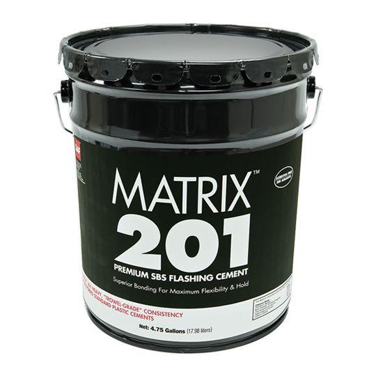 GAF Matrix™ 201 Premium SBS Flashing Cement 5 Gallon Pail