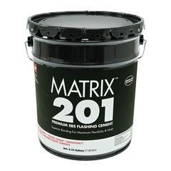 GAF Matrix™ 201 Premium SBS Flashing Cement - 5 Gallon Pail