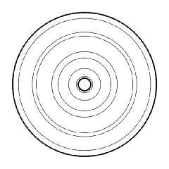 "Johns Manville 3"" Metal Flat Bottom Plate - Carton of 1,000"