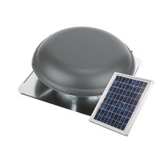 Air Vent Solar Powered Attic Ventilator Roof-Mount Metal with Separate...